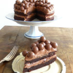 Nutella Brownie Cake with a Nutella Cream Cheese Frosting (using spelt, GF or regular flour)