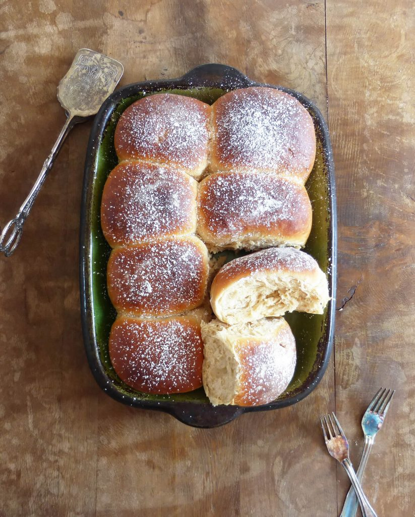 Caramel Apple Spelt Buns (Bread Machine)