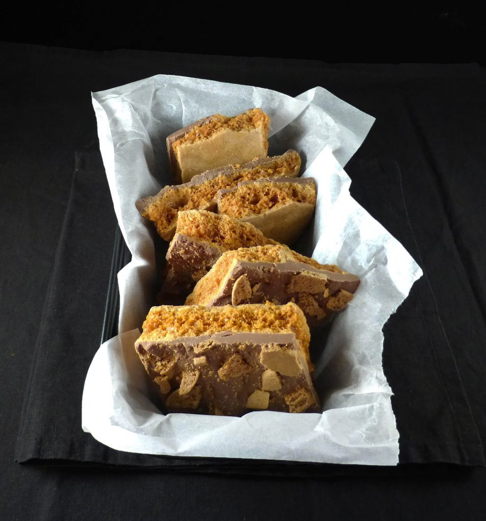 Gingerbread Chocolate Honeycomb (Cinder Toffee)