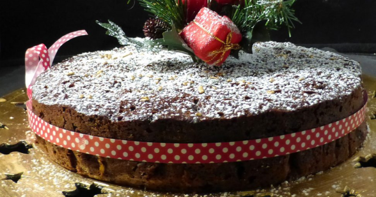 Simple Last Minute Christmas Fruit Cake (spelt or regular flour)