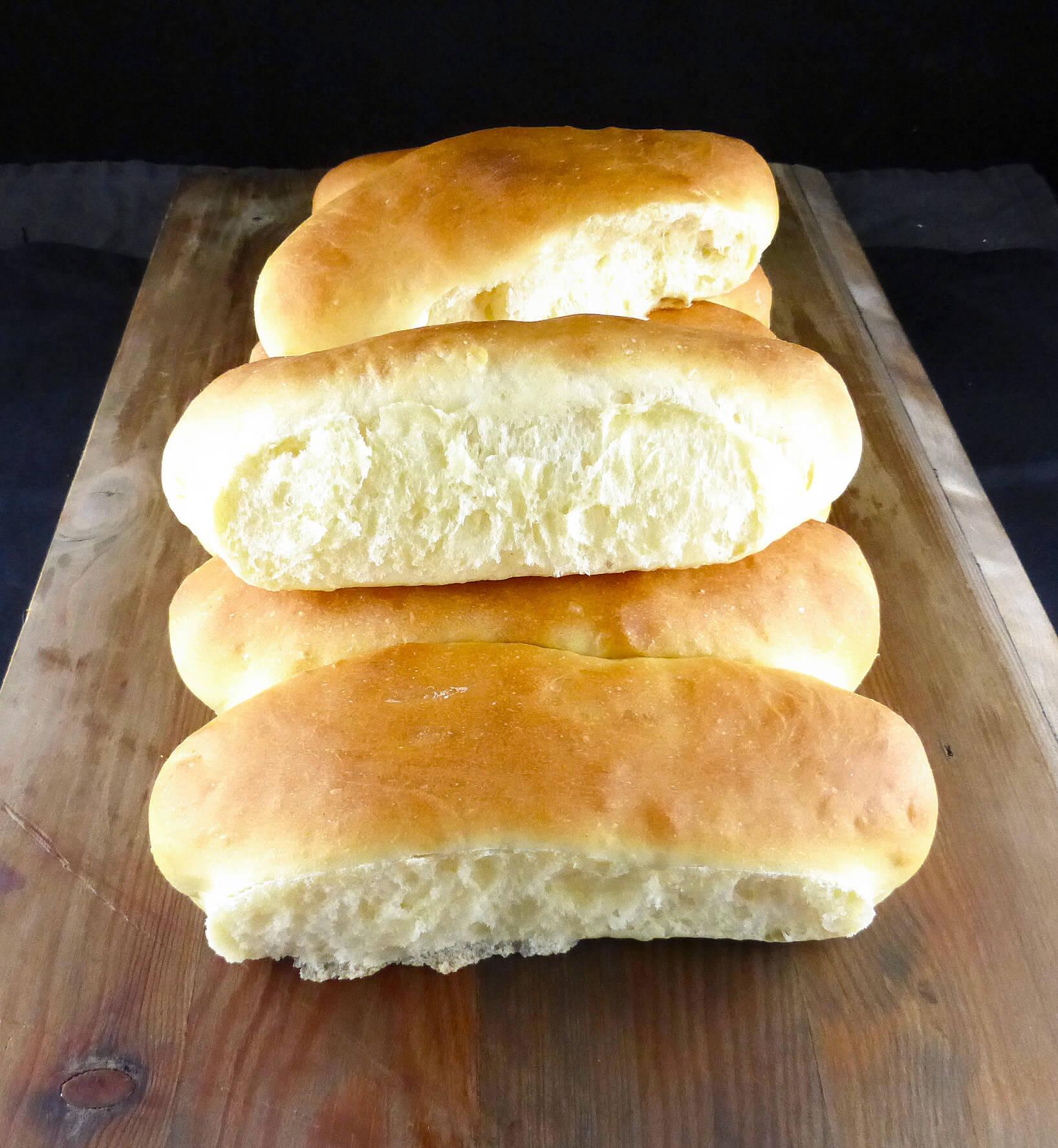 Super Soft Spelt Flour Hot Dog Buns Bread Machine Recipe